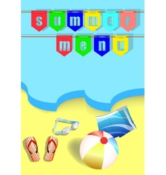 summer menu and sea vector image