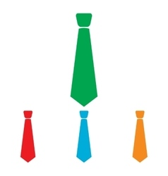 Tie sign colorfull set vector