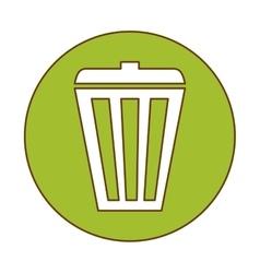 Trash can button icon image vector