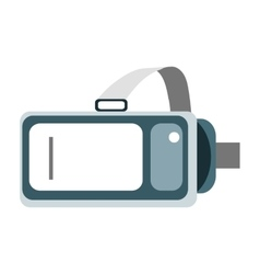 Helmet virtual reality vr on a white background vector