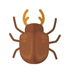 Cockchafer icon of bright small insect vector
