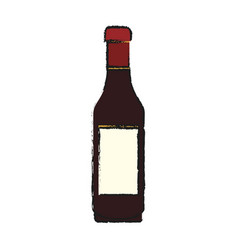 Liquor bottle icon image vector