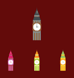Big ben monument of london big ben collection vector