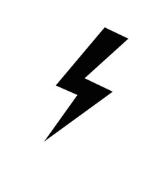 isolated thunder icon vector image