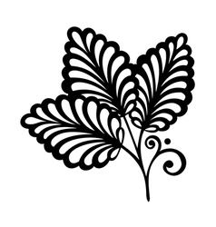 Original decorative leaf with ornament vector