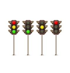 traffic light icon set vector image