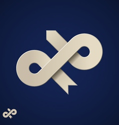 Paper loop arrow design template vector