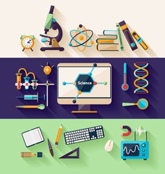 Science and education vector