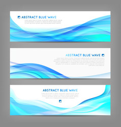 Set of wavy soft banners vector