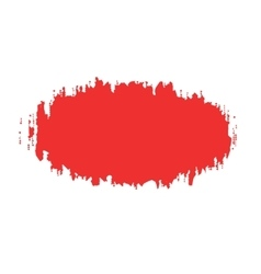The oval spot of red paint with ragged edges vector
