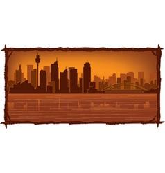 Sydney australia skyline vector
