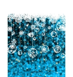 Christmas card cute misaic dot in blue eps 8 vector