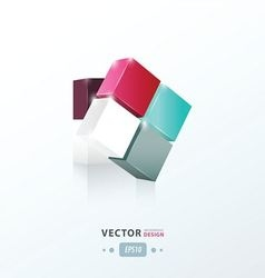 3d cube toy game vector
