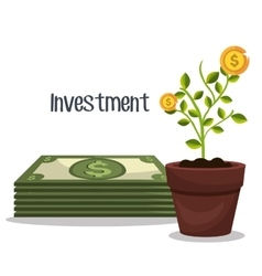 Business and money investment vector