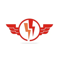 Logo electricity power wings icon design symbol vector