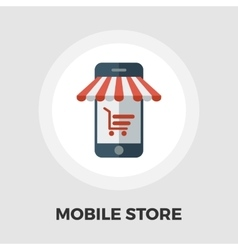 Mobile store icon flat vector image