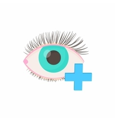 Hyperopia eyesight disorder icon cartoon style vector