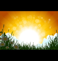 Amazing sunrise landscape vector