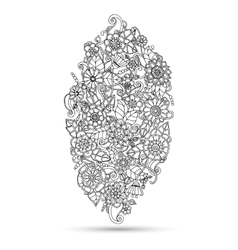 Henna paisley mehndi doodles design tribal element vector image