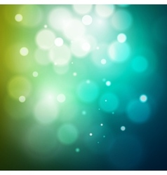 Abstract light blue white and green bokeh vector