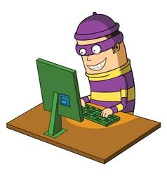 bad hacker vector image vector image