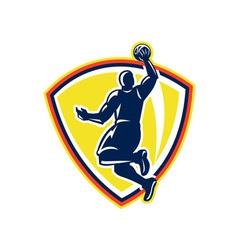Basketballer Dunking Rebounding Ball Retro vector image vector image