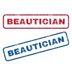 Beautician rubber stamps vector