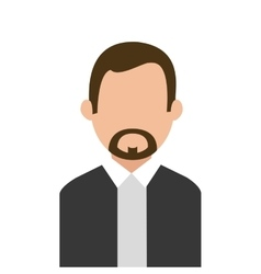Businesspeople design person icon Flat and vector image vector image