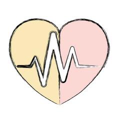 Cardiology medical symbol vector
