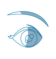 cartoon eye vision optical design vector image