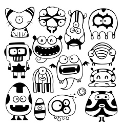 cartoon monstters vector image