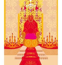 Castle chamber - vector image vector image