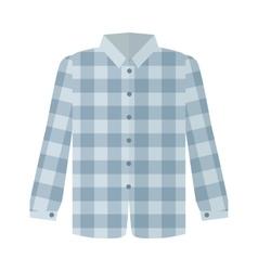 Checkered grey shirt flat style vector