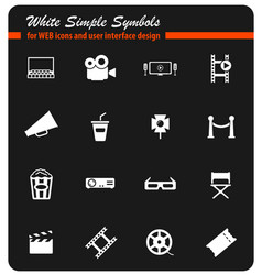 cinema simply icons vector image