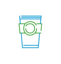 color line coffee cup tasty beverage vector image