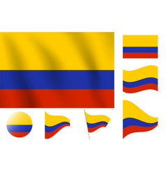 Columbia flag realistic flag national symbol vector