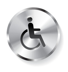 Disabled metal icon button vector