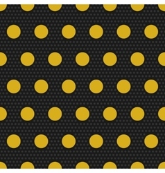 Gold polka dots seamless pattern vector
