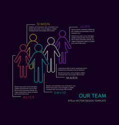 infographic our team design vector image vector image
