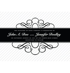 Invitation Templates vector image