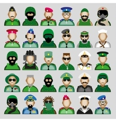 Military avatars vector image