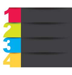 Numbers colors vector image