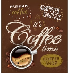 poster cup of coffee vector image