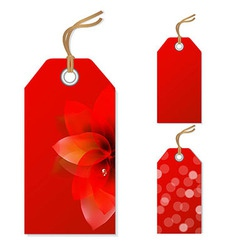 Red Sale Tags Set vector image vector image