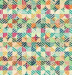 retro fabric circles seamless pattern vector image