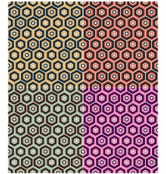 seamless hexagon retro pattern vector image vector image