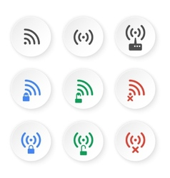 Set of icons of wireless connections vector image vector image