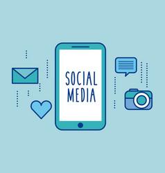 Social media smartphone device app icons vector