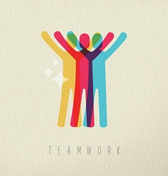Teamwork victory concept business color design vector image vector image