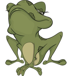 The little green toad vector image